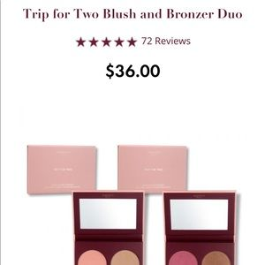 Wander Trip For Two Blush/ Bronzer Duo.